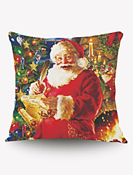 Christmas Series Pillow Cover Creative Cartoon Characters Santa Desire Flannel Material Pillow