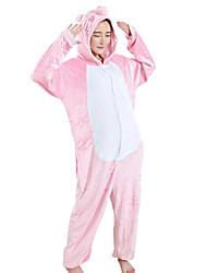 Kigurumi Pijamas Lechón/Cerdo Festival/Celebración Ropa de Noche de los Animales Halloween Rosado Retazos Mink Velvet Kigurumi porHombre