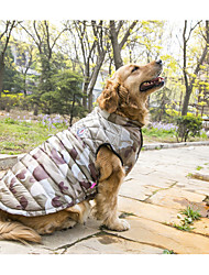 Dog Coat Vest Dog Clothes Winter Spring/Fall Camouflage Casual/Daily Keep Warm Camouflage Color