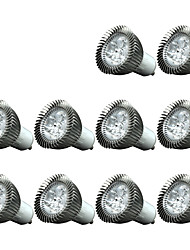 3W GU10 Focos LED 3 200-250 lm Blanco Fresco Regulable / Decorativa AC220 V 10 piezas