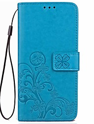 For Asus Zenfone 2   Max ZC550K Card Holder / Wallet / with Stand / Auto Sleep/Clover Pattern Case Full Body Case Mandala Hard PU Leather Other