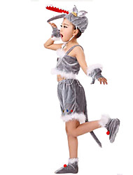 Festival/Holiday Halloween Costumes Gray Solid Top / Gloves / More Accessories / Headwear / Shorts Children's Day Kid Polyester