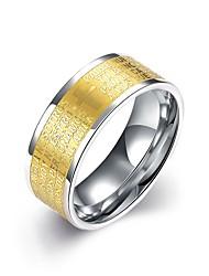 Ring Edelstahl vergoldet Modisch Golden Schmuck Hochzeit Party Alltag Normal 1 Stück