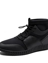 Femme-Bureau & Travail Décontracté Sport-NoirConfort-Chaussures d'Athlétisme-Microfibre