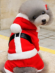 Cat / Dog Costume / Hoodie Red Dog Clothes Winter Solid Cute / Christmas