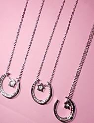 Женский Ожерелья с подвесками Стерлинговое серебро Уникальный дизайн Бижутерия Повседневные 1шт