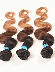 3 Pièces Ondulation naturelle Tissages de cheveux humains Cheveux Brésiliens 0.15kg 8-30 inch Extensions de cheveux humains