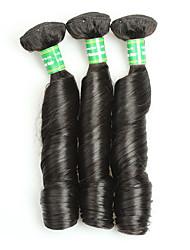 Бразильский Реми волос Пряди натуральных волос Реми Кудрявый Remy человеческих волос ткет