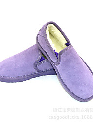 Women's Loafers & Slip-Ons Winter Others Cowhide Casual Black Blue Brown Purple White Gray Coral Coffee