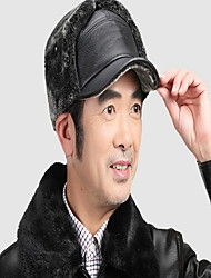 Fur hat Men in winter to keep warm earmuffs lei feng's hat Add wool baseball cap Middle-aged and old ca Breathable / Comfortable