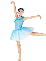 Ballet Dance Dresses Women's / Children's Performance Spandex / Polyester / Organza / Sequined Paillettes / Flower(s) / Sequins / Tiers2