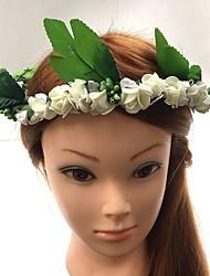 Femme Vannerie / Tissu Casque-Mariage / Occasion spéciale Serre-tête / Fleurs / Couronnes 1 Pièce