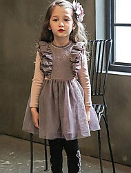 Girl's Going out / Party/Cocktail Solid Dress,Mesh Winter / Fall Long Sleeve