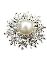женский белый кристаллический сплав броши 1шт