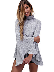 Women's Flared Bell Sleeve Knit Blouse