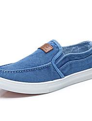 Men's Loafers & Slip-Ons Spring Summer Fall Comfort Canvas Casual Dark Blue Dark Grey Light Blue Walking