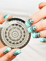Full Flower Design Nail Art Stamp Stamping Template Image Plate Nails Art Decoration Nail Template