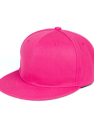 Spring Summer Dome Solid Color Cotton Flat Hat Hip-Hop Shade Baseball Cap