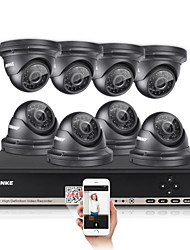 ANNKE 8CH CCTV Camcorder Set AHD DVR 4PCS 960P IR Outdoor Home Security Camera Surveillance System Kit