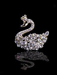 маленький лебедь невеста свадьба кристалл алмаза брошь