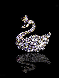petite mariée de cygne cristal de diamant de mariage Broche