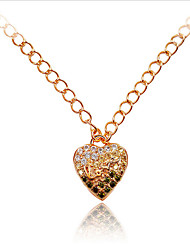 Necklace / Necklace Jewelry Party Pendant / Euramerican Zircon / Rose Gold Plated Women 1pc Gift Rose Gold