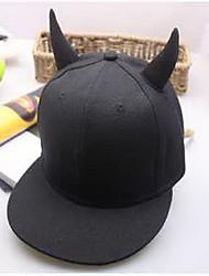 Cap Baseball Cap Cap Outdoor Sports Leisure Boom Warm  Comfortable Cotton BaseballSports Black Horn Hat