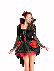 Queen Fairytale Festival/Holiday Halloween Costumes Red Black Solid Skirt HatsHalloween Christmas Carnival Children's Day New Year
