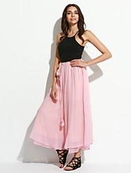 Pantalon Aux femmes Ample Chinoiserie Polyester Non Elastique