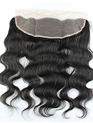 7A Human Hair Brazilian Lace Frontal Closure 13x4 With Baby Hair Free Bleached Knots Virgin Body Wave Lace Frontals