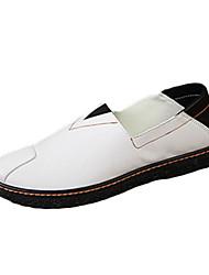 Masculino-Sapatos de Barco-Conforto-Rasteiro-Preto / Marrom / Branco-Couro Ecológico-Casual