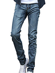 Men's Straight Jeans Pants,Casual/Daily Simple Solid Low Rise Zipper Cotton Micro-elastic All Seasons