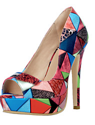 Women's Heels Spring Summer Fall Platform Others Leatherette Office & Career Dress Casual Party & Evening Stiletto Heel Multi-color Others