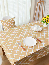 Square Gingham Table Cloth , Linen Material Hotel Dining Table / Table Decoration