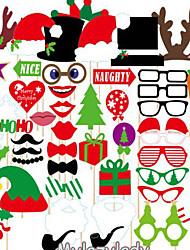 1 крышка (39pcs) озорные рождественские статьи кинофестиваль реквизита фестиваль пункты