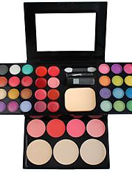 Corretivo/Contour+Sombra para OlhosPincéis de Maquiagem Molhado Olhos / Rosto Gloss Colorido / Longa Duração / Peles com Manchas / Outro