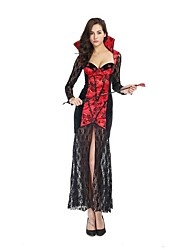 Women Sexy Vampire Costumes Extravagant Lace Long Dress Sexy banshee Cosplay female Vampire Queen Costumes Cosplay Halloween