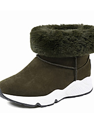 Women's Boots Winter Dull Polish Comfort Fashion Suede Athletic / Casual Low Heel Split Joint Walking