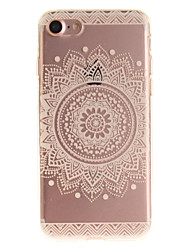 Para iPhone X iPhone 8 iPhone 7 iPhone 6 Case Tampa IMD Capa Traseira Capinha Mandala Macia PUT para Apple iPhone X iPhone 8 Plus iPhone