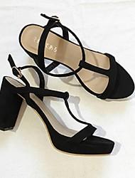 Women's Sandals Comfort Fleece Casual Black Beige