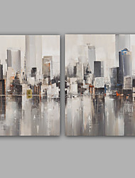 100%  Hand-Painted Abstract / Hang-Painted Oil PaintingModern / Classic Two Panels Canvas Oil Painting For Home Decoration