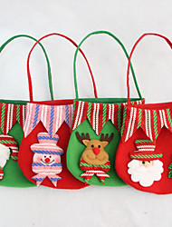 4PCS Christmas Gift Bag Candy Bag Party Supplies Christmas Apple Gift Bag(Style random)