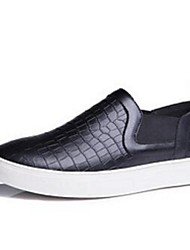 Men's Loafers & Slip-Ons Comfort Leather Casual Black White