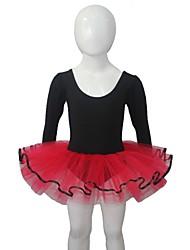Balé Vestidos Mulheres / Crianças Actuação Algodão / Tule / Licra 1 Peça Manga Comprida Tutus