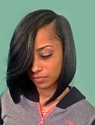 elegante moda onda natural, perucas de cabelo humano