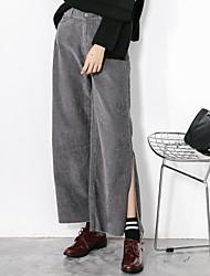 assinar veludo calças de pernas largas calças de pernas largas personalidade medida de divisão