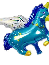 Balloons Horse Aluminium Blue For Boys / For Girls 5 to 7 Years / 8 to 13 Years / 14 Years & Up