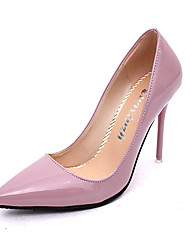 Women's Heels Fall Winter Comfort PU Casual Low Heel Black Pink Red White Gray Other