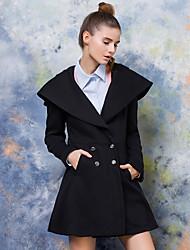 signer europe poste 2016 nouvelles femmes d'hiver&collège vent laine manteau manteau de laine Fille # 39;