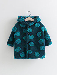 Girl Polka Dot Down & Cotton Padded,Cotton Winter Long Sleeve